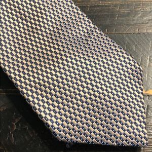 Roundtree & Yorke Deep Gold and Blue Tie
